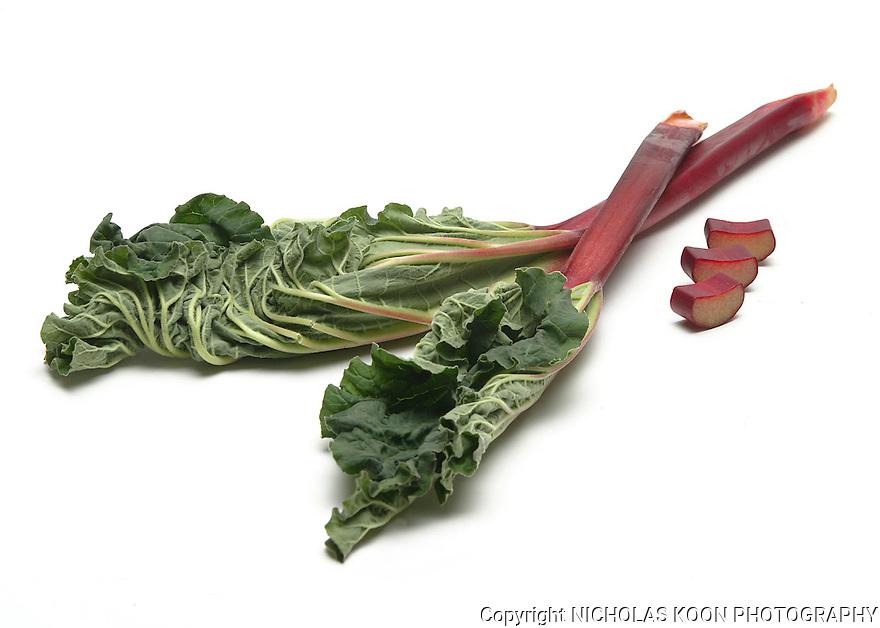 Rhubarb still life.