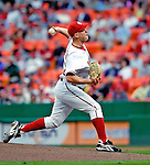 19 May 2007: Washington Nationals pitcher Mike Bacsik on the mound in his first start of the year facing the Baltimore Orioles at RFK Stadium in Washington, DC. The Orioles defeated the Nationals 3-2 in the second game of the 3-game interleague series...Mandatory Photo Credit: Ed Wolfstein Photo