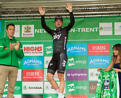 6th September 2017, Mansfield, England; OVO Energy Tour of Britain Cycling; Stage 4, Mansfield to Newark-On-Trent;  Elia Viviani, Team Sky is the new leader in the General Classification and will be  wearing the OVO Green Jersey!