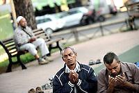 Roma, 12 Settembre 2016<br /> Largo Preneste, Tor Pignattara<br /> Festa di Eid al-kabir, islamici in Piazza pregano in piazza duranete la festa del sacrificio.<br /> <br /> Muslims Celebrate Eid Al-Adha in Rome