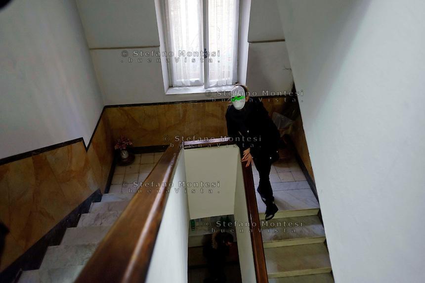 Roma 13 Marzo 2013.Un gruppo di studenti e precari ha occupato una palazzina abbandonata  a Tor Pignattara per farne uno studentato autogestito. Mushrooms è il nome che gli occupanti hanno dato al posto