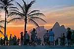 Anoitecer na  Praia do Arpoador em Ipanema. Rio de Janeiro.2014. Foto de Rogerio Reis.
