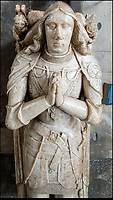 BNPS.co.uk (01202 558833)<br /> Pic: PhilYeomans/BNPS<br /> <br /> The alabaster tomb of leading Tudor knight Lord John Cheney has suffered much at the hands of graffiti artists - mainly it is thought during the Civil War when Puritan troops defaced it.<br /> <br /> Salisbury Cathedral has taken the unusual step of launching 'Grafitti Tours' of it's 800 year old building, as part of a three year project to document the thousands of examples of centuries-old 'graffiti' which adorn the walls of the 13th century cathedral.<br /> <br /> The inside of the Cathedral in Wiltshire is covered in markings etched into its fabric by fervent, desperate or just bored visitors ranging from simple inscriptions to more intricate designs used to ward off evil spirits.  <br /> <br /> Cathedral guide Steve Dunn intends to record all the marks or 'graffiti' which in some cases date back from when the cathedral was completed in 1258.<br /> <br /> Helped by about 60 volunteers, he is collating images of the graffiti and researching the story behind them.