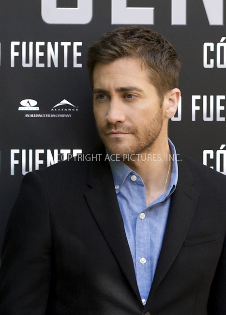 WWW.ACEPIXS.COM . . . . .  ..... . . . . US SALES ONLY . . . . .....April 5 2011, Madrid....Actor Jake Gyllenhaal at a photocall for 'Source Code', on April 5 2011 in Madrid, Spain....Please byline: FD/ACE Pictures, Inc.... . . . .  ....Ace Pictures, Inc:  ..Tel: (212) 243-8787..e-mail: info@acepixs.com..web: http://www.acepixs.com