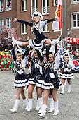 Düsseldorf, Germany. 27 February 2017. Tanzmariechen. Carnival parade on Shrove Monday (Rosenmontag) in Düsseldorf, North Rhine-Westphalia, Germany.