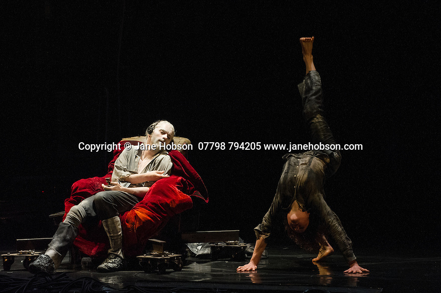 London, UK. 25.03.2014. Compagnie du Hanneton/ James Thierree presents the UK premiere of TABAC ROUGE at Sadler's Wells. Picture shows: James Thierree and Katell le Brunn. Photograph © Jane Hobson.