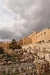 Israel, Jerusalem Archaeological Park, the Ophel area at the foot of the southern wall of the Temple Mount<br />