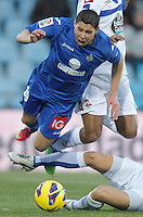 Getafe's Abdel Barrada during La Liga match. February 01, 2013. (ALTERPHOTOS/Alvaro Hernandez) /NortePhoto