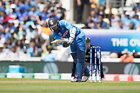 Dinesh Karthik (India) flicks the ball straight to deep backward square to be dismissed for 4 during India vs New Zealand, ICC World Cup Warm-Up Match Cricket at the Kia Oval on 25th May 2019