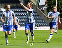 KILMARNOCK'S JAMES DAYTON CELEBRATES AFTER HE  SCORES KILLIE'S THIRD