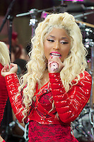 NEW YORK, NY - August 14, 2012: Nicki Minaj performs on NBC's Today Show Toyota Concert Series at Rockefeller Center in New York City. ©mpi44/MediaPunch Inc. /NortePhoto.com<br /> <br /> **SOLO*VENTA*EN*MEXICO**<br />  **CREDITO*OBLIGATORIO** *No*Venta*A*Terceros*<br /> *No*Sale*So*third* ***No*Se*Permite*Hacer Archivo***No*Sale*So*third*