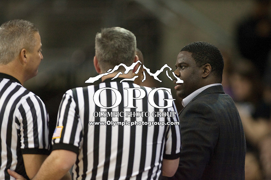 Jan 10, 2012:  Seattle University head coach Cameron Dollar against Washington.  Washington defeated Seattle University  91-83 at Alaska Airlines Arena Seattle, Washington..