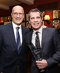 Joe Ortmeyer and Mike Isaacson attend the The Robert Whitehead Award presented to Mike Isaacson at Sardi's on May 10, 2017 in New York City.
