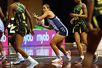 21.02.2018 Fiji's Alisi Naqiri in action during the Jamaica v Fiji Taini Jamison Trophy netball match at the North Shore Events Centre in Auckland. Mandatory Photo Credit ©Michael Bradley.