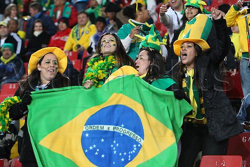 JUNE 28, 2010 - Football : 2010 FIFA World Cup South Africa Round of 16 between Brazil 3-0 Chile at Ellis Park Stadium, Johannesburg, South Africa. Brazil fans (BRA),  .