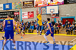 Daniel Jokubaitis launches himself towards the basket at Killorglin Sports Centre in their match against UCD Marian on Saturday