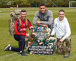 Pedro Caixinha, James Tavernier and Connal Cochrane promote the Rangers Charity Foundation's Great Glen armed forces challenge with members of Royal Marines Commandos