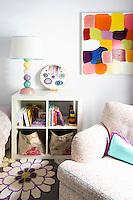 modern colored bedroom