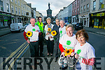 The Launch of the Kerry Hospice Good Friday Walk, Starts at the Grand Hotel on Friday March 25th at 10am. Pictured front l-r Andrea O'Donoghue and Mary Shanahan Back l-r Dan Galvin, (KHF),  Community Garda Aidan O'Mahony, Mairead Fernane, (KHF), Ted Moynihan (chairman Kerry Hospice Foundation)  John Griffin