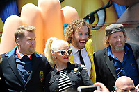 James Corden, Christina Aguilera, TJ Miller, Steven Wright at the world premiere for &quot;The Emoji Movie&quot; at the Regency Village Theatre, Westwood. Los Angeles, USA 23 July  2017<br /> Picture: Paul Smith/Featureflash/SilverHub 0208 004 5359 sales@silverhubmedia.com