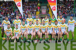 Kilmoyley team in the County Senior Final at Austin Stack Park Tralee on Sunday.