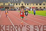Kate Murphy Kenmare wins the girls under 10 200m heats at the Kerry Community Games finals at Castleisland on Saturday.