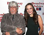 Martin Charnin & Laura Osnes attending the 'Broadway Salutes' honoring those who make Broadway Great at the Timers Square Visitors Center in Times Square,  New York City on 9/20/2012.