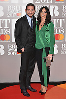 Frank Lampard and Christine Bleakley<br /> The Brit Awards at the o2 Arena, Greenwich, London, England on February 22, 2017.<br /> CAP/PL<br /> &copy;Phil Loftus/Capital Pictures /MediaPunch ***NORTH AND SOUTH AMERICAS ONLY***