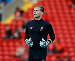 Loris Karius of Liverpool warms up before the Champions League Group E match at the Anfield Stadium, Liverpool. Picture date 13th September 2017. Picture credit should read: Simon Bellis/Sportimage