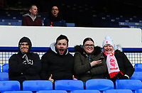 Lincoln City fans enjoy the pre-match atmosphere<br /> <br /> Photographer Andrew Vaughan/CameraSport<br /> <br /> Emirates FA Cup Third Round - Everton v Lincoln City - Saturday 5th January 2019 - Goodison Park - Liverpool<br />  <br /> World Copyright &copy; 2019 CameraSport. All rights reserved. 43 Linden Ave. Countesthorpe. Leicester. England. LE8 5PG - Tel: +44 (0) 116 277 4147 - admin@camerasport.com - www.camerasport.com