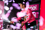 Jan Polanc (SLO) UAE Team Emirates takes over the race leaders Maglia Rosa at the end of Stage 12 of the 2019 Giro d'Italia, running 158km from Cuneo to Pinerolo, Italy. 23rd May 2019<br /> Picture: Gian Mattia D'Alberto/LaPresse | Cyclefile<br /> <br /> All photos usage must carry mandatory copyright credit (© Cyclefile | Gian Mattia D'Alberto/LaPresse)