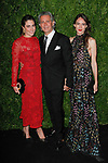 Laura De Gunzburg, Carlos Souza, and Zani Gugelmann arrive at the MoMa Film Benefit Tribute to Julianna Moore presented by Chanel, at the Musuem of Modern Art in New York City, on November 13, 2017.