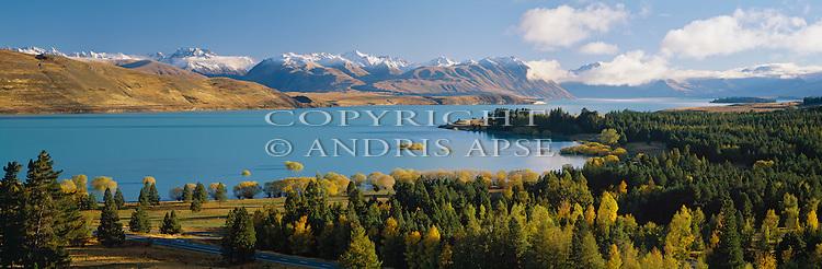 Lake Tekapo in Autumn. Mackenzie Country. Canterbury New Zealand.