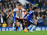 Chelsea's Willian tussles with Sunderland's Jack Rodwell<br /> <br /> Barclays Premier League- Chelsea vs Sunderland - Stamford Bridge - England - 19th December 2015 - Picture David Klein/Sportimage