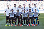 Sevilla´s initial team players during 2015-16 La Liga match at Vicente Calderon stadium in Madrid, Spain. January 24, 2016. (ALTERPHOTOS/Victor Blanco)