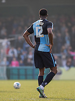 Rowan Liburd of Wycombe Wanderers during the Sky Bet League 2 match between Wycombe Wanderers and Stevenage at Adams Park, High Wycombe, England on 12 March 2016. Photo by Andy Rowland/PRiME Media Images.