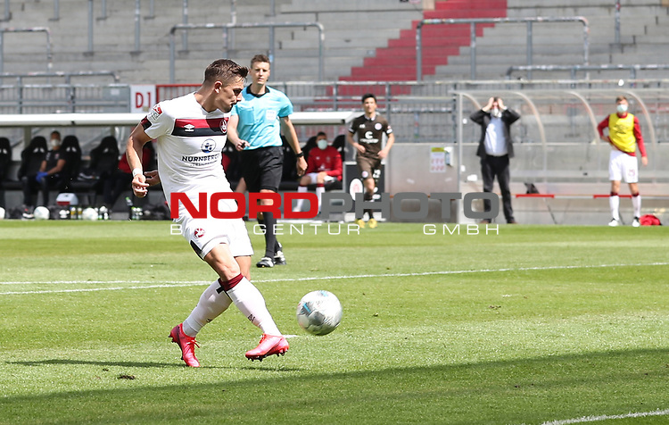 nph0001:  17.05.2020 --- Fussball --- Saison 2019 2020 --- 2. Fussball - Bundesliga --- 26. Spieltag: FC Sankt Pauli - 1. FC Nürnberg ---   DFL regulations prohibit any use of photographs as image sequences and/or quasi-video - Only for editorial use ! --- <br /> <br /> Nikola Dovedan (8, 1. FC Nürnberg )  <br /> <br /> Foto: Daniel Marr/Zink/Pool//via Kokenge/nordphoto