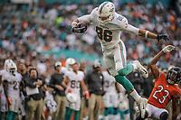 MIAMI, FL, 14.10.2018 – MIAMI DOLPHINS-CHICAGO BEARS – Jogador Gesicki do Miami Dolphins (8), durante partida válida pela semana 6 da temporada regular da NFL, no Hard Rock Stadium, na tarde deste sábado (14).(Foto: Jayson Braga / Brazil Photo Press)