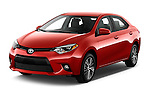 2016 Toyota Corolla LE Plus 4 Door Sedan Angular Front stock photos of front three quarter view