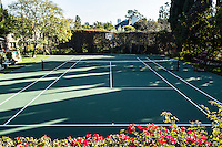 The tennis courts at the Playboy Mansion, Los Angeles, Calif. January 8, 2016.<br /> CREDIT: Lisa Corson for The Wall Street Journal<br /> Slug: PLAYBOY