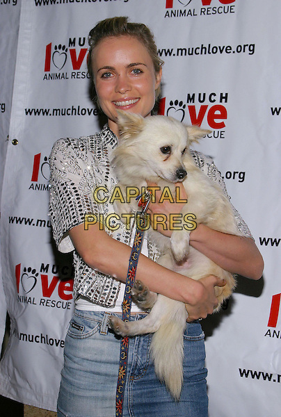 RADHA MITCHELL.during Much Love Animal Rescue Celebrity Comedy Benefit at the Laugh Factory,West Hollywood, CA, USA, 29th September 2004..half length dog pet .Ref: ADM.www.capitalpictures.com.sales@capitalpictures.com.©V.S/AdMedia/Capital Pictures.