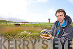 Dr Dave  McCormick Ecologist and Assistant Manager with Tralee Bay Wetlands holding 'Terry' the Terrapin who was found living amongst the wildlife in the 'The Old Pond last Tuesday.