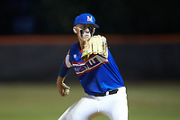 Mooresville Post 66 pitcher Dawson Salter (7) in action against Kannapolis Post 115 during an American Legion baseball game at Northwest Cabarrus High School on May 30, 2019 in Concord, North Carolina. Mooresville Post 66 defeated Kannapolis Post 115 4-3. (Brian Westerholt/Four Seam Images)