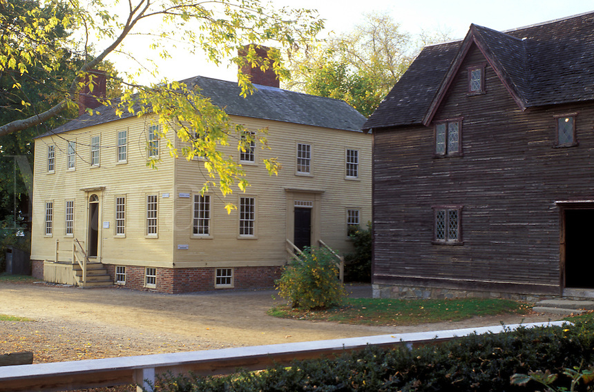 Portsmouth, NH, New Hampshire, Strawberry Banke Museum in Portsmouth in the autumn.
