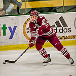 15 November 2015: University of Massachusetts Minuteman Forward Shane Walsh, a Senior from West Roxbury, MA, in action against the University of Vermont Catamounts at Gutterson Fieldhouse in Burlington, Vermont. The Minutemen rallied from a three goal deficit to tie the game 3-3 in their Hockey East matchup. Mandatory Credit: Ed Wolfstein Photo *** RAW (NEF) Image File Available ***