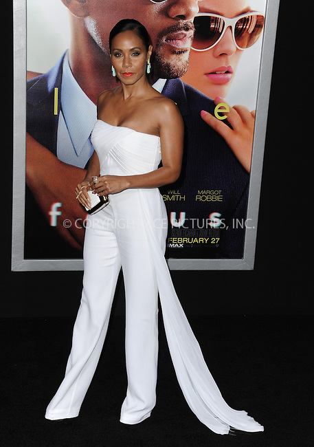 WWW.ACEPIXS.COM<br /> <br /> February 24 2015, New York City<br /> <br /> Jada Pinkett Smith arriving at the premiere of 'Focus' at the TCL Chinese Theatre on February 24, 2015 in Hollywood, California.<br /> <br /> By Line: Peter West/ACE Pictures<br /> <br /> <br /> ACE Pictures, Inc.<br /> tel: 646 769 0430<br /> Email: info@acepixs.com<br /> www.acepixs.com
