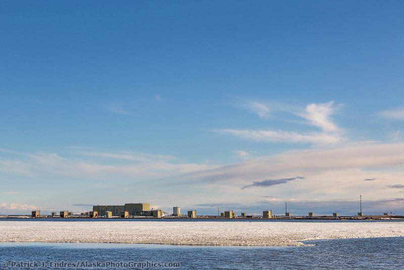 Oil industry development, Arctic North Slope, Alaska.