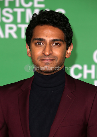 "Westwood, CA - DECEMBER 07: Karan Soni, At Premiere Of Paramount Pictures' ""Office Christmas Party"" At Regency Village Theatre, California on December 07, 2016. Credit: Faye Sadou/MediaPunch"