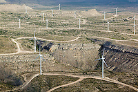 aerial wind turbines west Texas