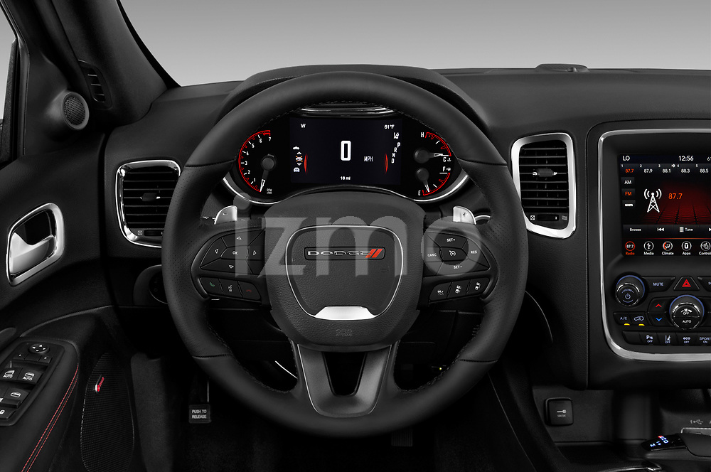 Car pictures of steering wheel view of a 2018 Dodge Durango R/T 5 Door SUV